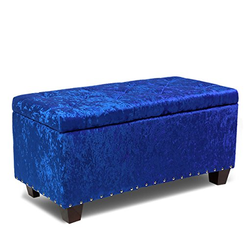Magshion Rectangular Storage Ottoman Bench Tufted Footrest Lift Top Pouffe Ottoman, Coffee Table, Seat, Foot Rest, and more (24'', Microfiber - Table Rectangular Flip Cocktail Top