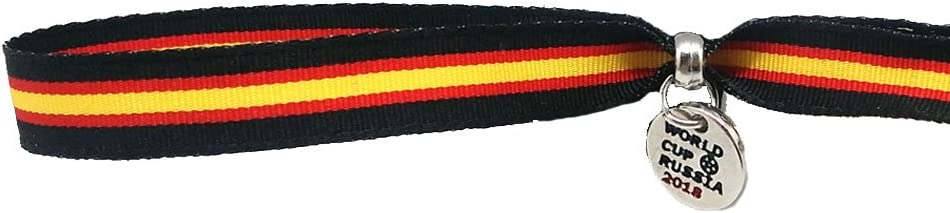 Pulsera de Bandera de España (Negro), de Tela Ultra Resistente y Lavable, de tamaño XXL Ajustable Mediante Corte a Todos los tamaños.: Amazon.es: Deportes y aire libre