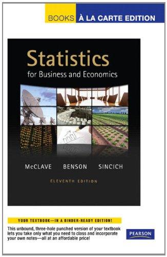 Statistics for Business and Economics (Books a la Carte)