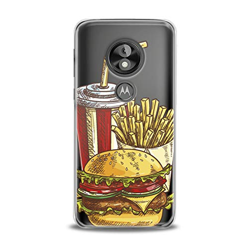 Lex Altern TPU Case Motorola Moto G7 One P30 Play Note Z3 G6 E5 Plus Tasty Food Clear Potatoes Pattern Cover Soft Silicone 2018 Print Protective Burger Cola Transparent Kids Girls Ladies Women Top -