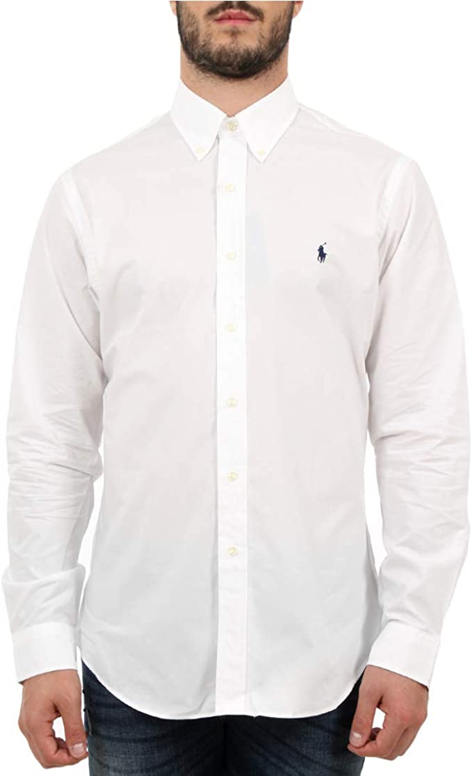 Polo Ralph Lauren Camicia in Popeline Slim-Fit Uomo Mod. 710705269 ...