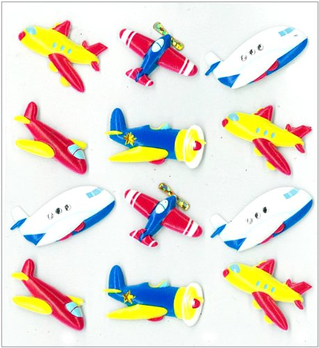 Jolee's Boutique Cabochons Dimensional Stickers, Planes