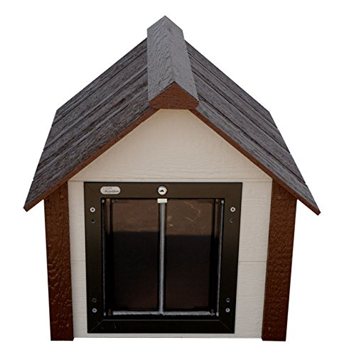 Climate master plus insulated dog house dog kennel w door for 2 door dog house
