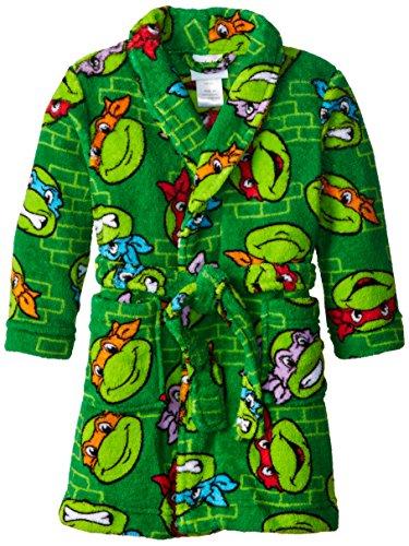 Teenage Mutant Ninja Turtles Little Boys' Multi  Bathrobe ,Multi ,3T