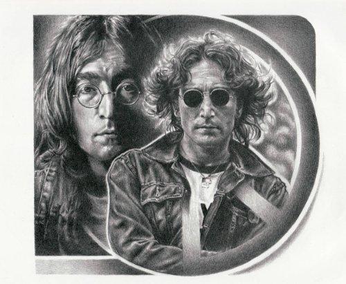 john lennon drawing poster - 9