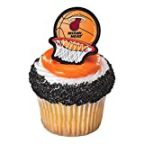 NBA Miami Heat Cupcake Topper Rings Party Favor- Pack of 24