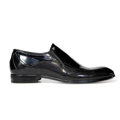 Men's 7994BLACK Black Leather Loafers
