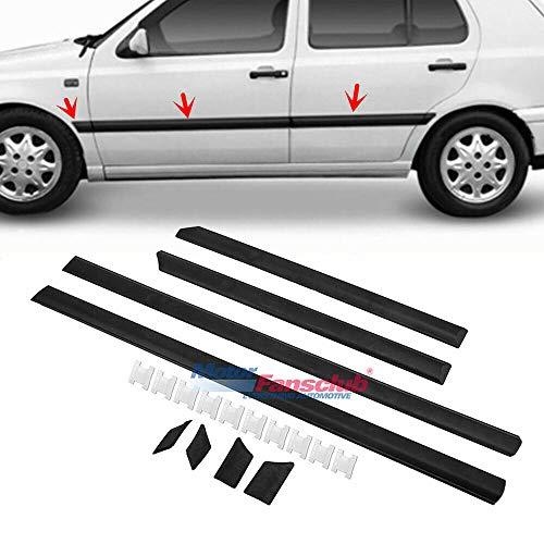 (MotorFansClub Body Side Door Molding Cover for VW Golf Jetta MK3 1993-1997 Protector Cover Trim, Black)
