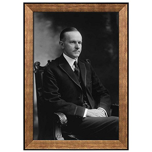 Portrait of Calvin Coolidge (30th President of the United States) American Presidents Series Framed Art Print