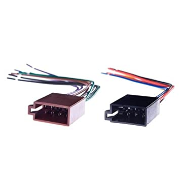 51FO NzQ5rL._SY355_ amazon com universal female iso radio wire wiring harness adapter universal wiring harness connector at readyjetset.co