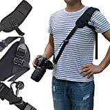 Bwealthest Camera Neck Strap, Neck Shoulder Strap with Quick Release Safety Tether Extra Long Adjustable Shoulder Strap Perfect for DSLR SLR DV(Black)
