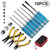 Drone Repair Parts - Hobby-Ace 10IN1 RC Tools Kits Box Set Screwdriver Pliers Hex Repair for Helicopter Multirotors