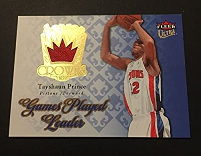 Tayshaun Prince Pistons Kentucky 2007 Fleer Ultra Jersey Certified JN15