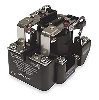 dayton 5x847 power relay, open, 40amp, 2pole, dpdt, coil:120vac, 8pin:  electronic relays: amazon com: industrial & scientific