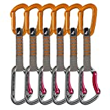 Fusion 9301ST Climb Carabiners Quick Draw Sets, 11cm, Grey/Orange