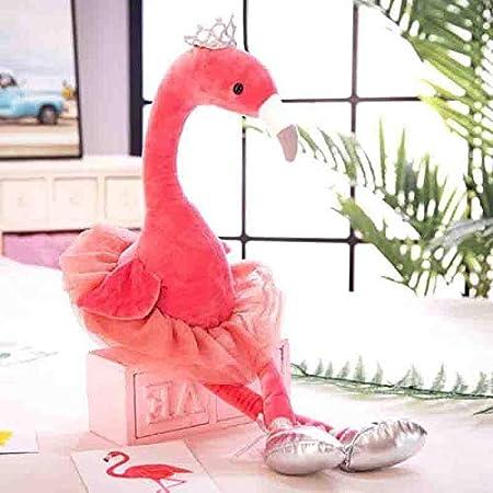 CGDZ 1 unid Swan Flamingo Peacock Peluches con Corona Animal de Peluche Suave Felpa Ni/ños Juguetes para Ni/ñas Regalo Decoraci/ón del Hogar Azul Pavo Real 35 cm