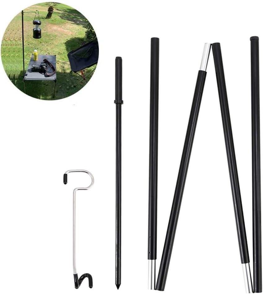 Borstu 6 Unids//Set Linterna Stick L/ámpara de Camping Al Aire Libre Soporte de Aluminio L/ámpara Estable Soporte de Luz de Poste