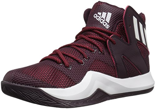 University Mens Basketball - adidas Men's Shoes | Crazy Bounce Basketball, Maroon/White/University Red, (15 M US)
