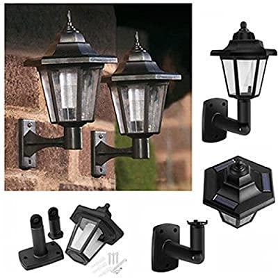 Alonea Solar Power LED Light Path Way Wall Landscape Mount Garden Fence Lamp Outdoor