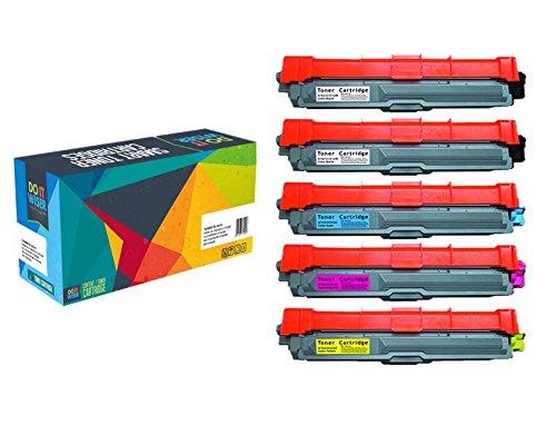 Do it Wiser 5 Compatible Brother HL 3170CDW Toner TN221 | TN225 for HL 3140 3142 3150 3152 3172 CW CDW CDN | DCP 9015 9017 9020 CDW | MFC 9015 9017 9130 9140 9142 9330 9332 9340 9342 CW CDN CDW