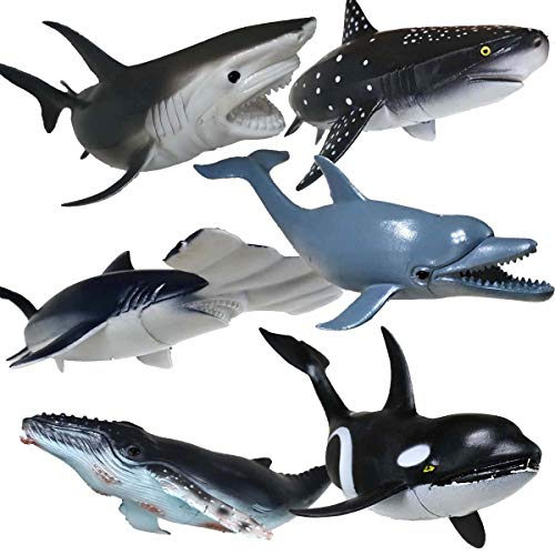 - Shark Toys Figures,Large Ocean Animals Toys,Realistic Design Shark Replica