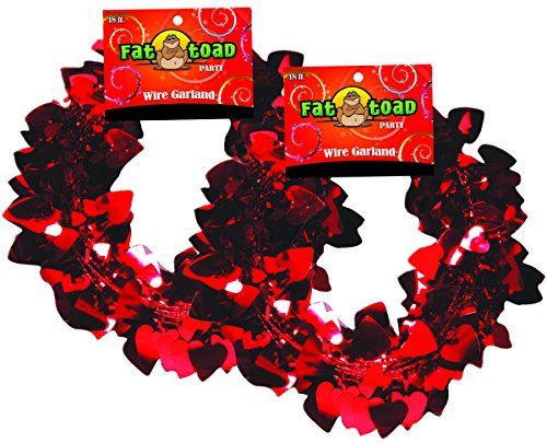 Garland Wire Heart (Garland Hearts Red 18 Foot 2 Pack, Fat Toad)