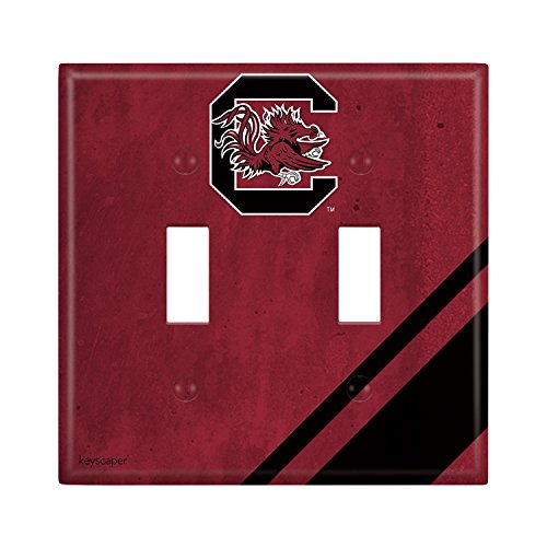 Keyscaper South Carolina Gamecocks Double Toggle Light Switch Cover NCAA