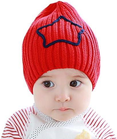 LuCoOクリスマスファッション赤ちゃん幼児用冬ビーニー五芒星かぎ針編みEarflap暖かい帽子