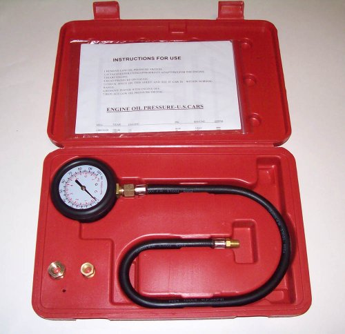 PMD Products Engine Oil Pressure Tester Gauge Diagnostic Test Kit Adapters Case 100 PSI NEW