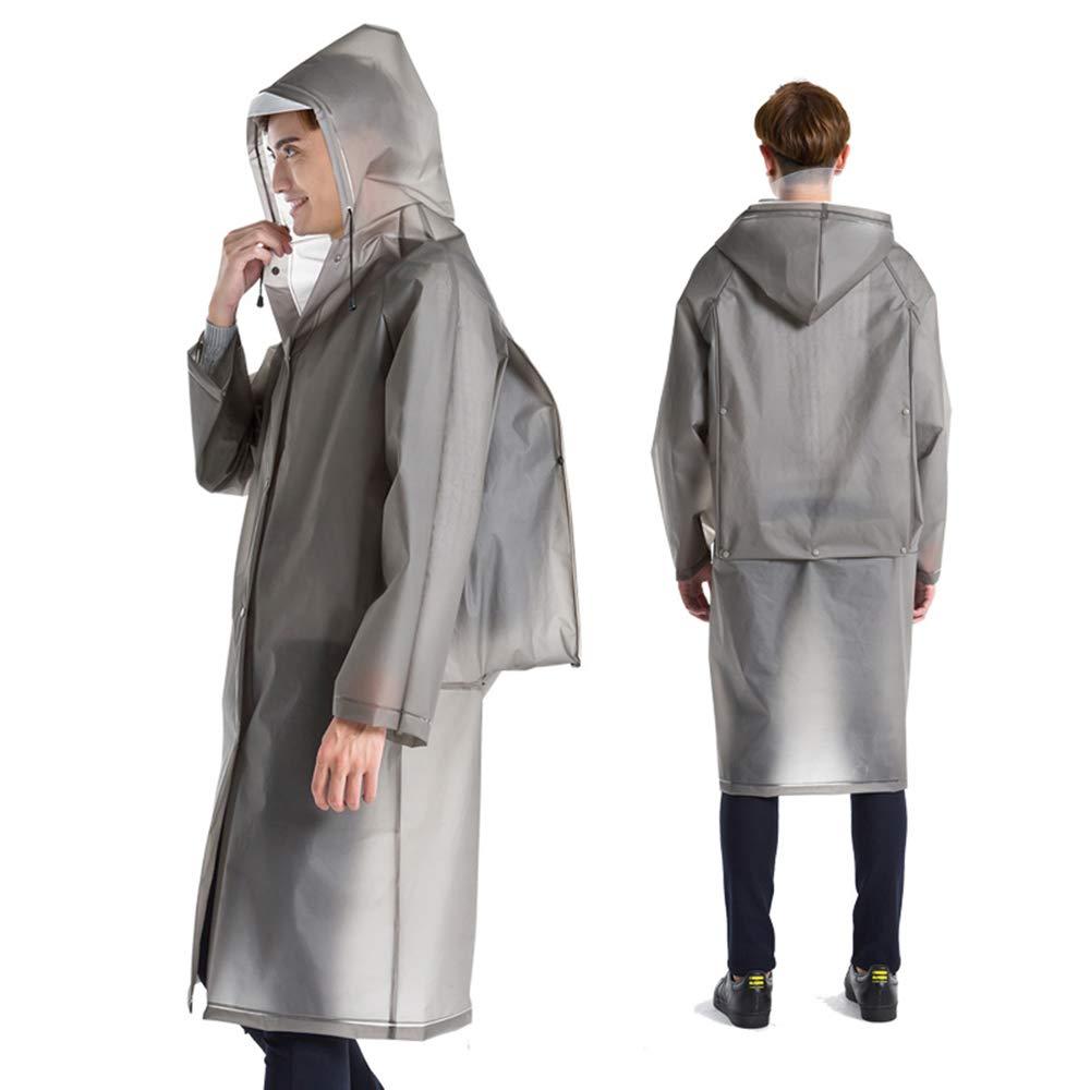 Styhatbag Uomo Rain Rainat Impermeabile Traspirante per Uomo e Donna Poncho Antipioggia Multifunzionale (Dimensione : M)