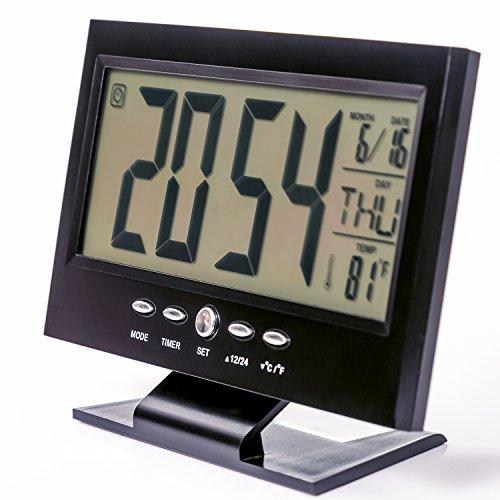 Modern Digital Alarm Clock By 3digital Elegant Black