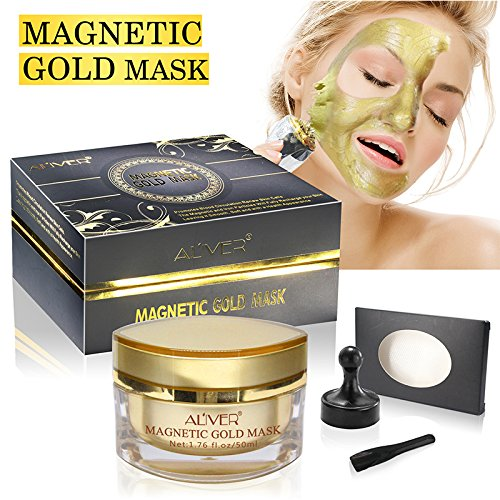 AL'IVER Magnet Mask Gold Luster Magnetic Face Mask - Mineral-Rich Anti-stress Moisturizing Anti-aging Pore Cleansing Enhancing Tone and Texture (1.7 oz) (Gold) (Jars Of Clay Nothing But The Blood)
