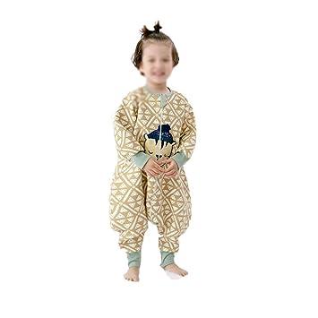 HAIMING-sleeping bag Mono De Bebe Saco De Dormir De La Pierna del Bebé Pijamas De Bebe-Baby Anti-Kick Es Primavera Y Otoño Clip Algodón Fino Saco: ...