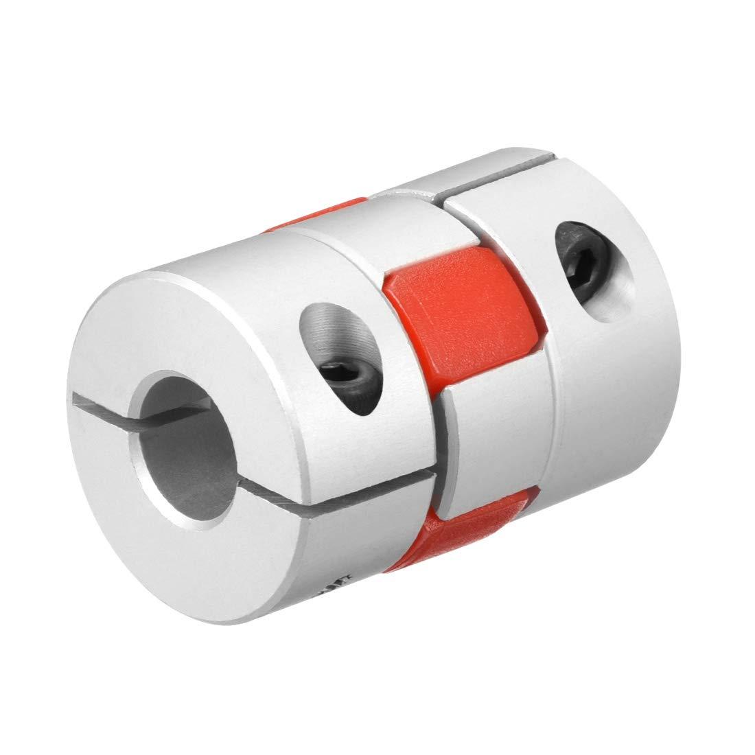 Sourcingmap Wellenkupplung 6 mm auf 6 mm Bohrung L30 x D20 Flexible Kupplung f/ür Servo-Stufenmotor