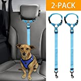 Mrli Pet Doggy Car Headrest Restraint – Animal Safety Seat Belt Strap – Adjustable Nylon Fabric Harness for Dog – Easy Vehicle Travel with Pet – Durable Zipline & Tether Backseat for Traveling For Sale