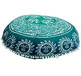 Round Floor Pillow Comfortable Mandala Floor PillowsBohemian Cushion Cover Ottoman Pouf Cover