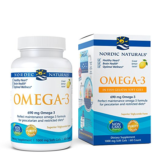 Nordic Omega Naturals Woman Lemon - Nordic Naturals Omega-3 Fish Gelatin - Aids in Cognition, Heart Health, and Immune Support, Lemon Flavor, 60 Soft Gels