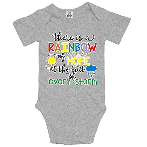 NMDJC CCQ Rainbow Fo Hope After Storm Unisex Baby Bodysuit Humor Onesies Soft Rompers Layette]()