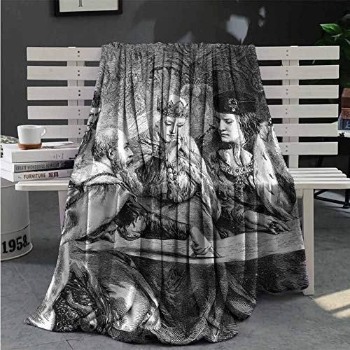 jecycleus Victorian Blankets American History Theme Great Gifts to Your Family,Friends,Kids 60X35 Inch (Ladder Back History Chair)
