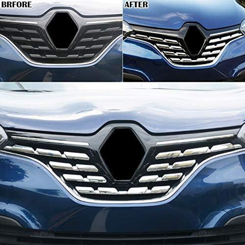 per Kadjar 2015 2016 2017 2018 Esterno Calandra Styling Cromato 7 pezzi ABS plastica