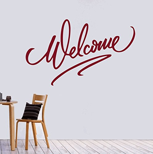 dreamkraft Welcome引用壁装飾アートステッカービニールデカールホーム装飾リビングルーム&キッズ寝室(25 x 15インチ用 B07C889668
