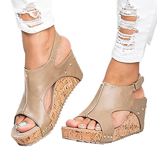De Peep jianhui Toe Zapatos Playa Casuales Zapatos Moda Sandalias Sandalias Romanoas Mujer Elegant Moda Zapatos Verano De CCqg7