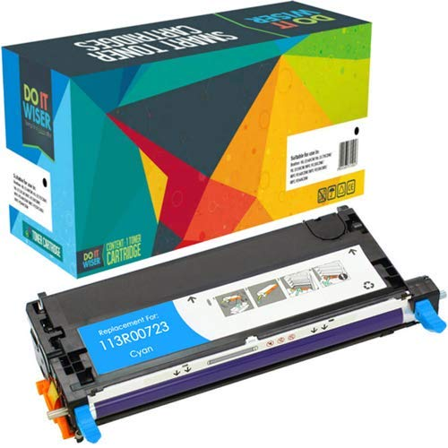 Do it Wiser Remanufactured Toner Cartridge Replacement for Xerox Phaser 6180 6180N 6180DN 6180MFP-D 6180MFP-N | 113R00723 (Cyan)