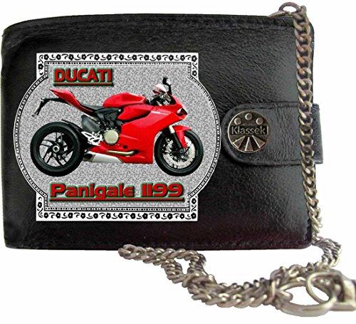 Ducati 1199 Panigale Klassek Herren Geldbörse Geldbeutel Portemonnaie mit Kette Motorrad Zubehör Bike