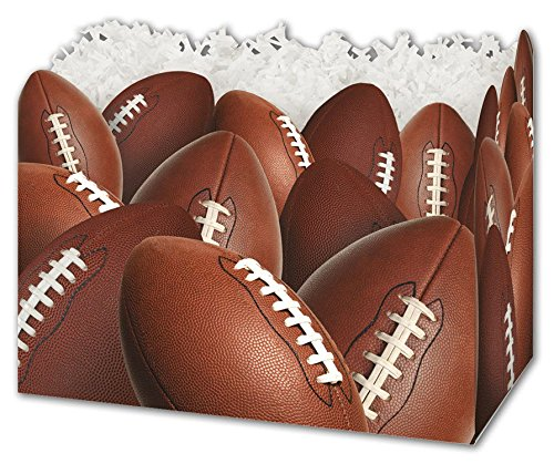 (Patterned Specialty & Event Boxes - Football Gift Basket Boxes, 6 3/4 x 4 x 5