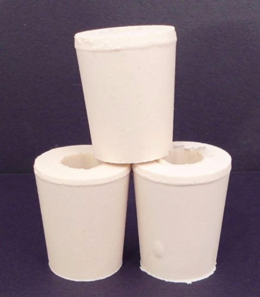 1 X Drilled Rubber Stopper #2 (Set of 3)
