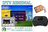 IPTV Subscription HTV HTV3 HTV5 A1 A2 Brazil Box A2 IPTVKINGS IPTV5+ IPTV6 IPTV6+ Tigre Tiger Brazilian One 1 Renew Code with Mini Keyboard