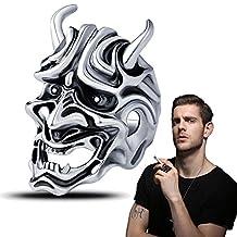 Mens Mask Rings Japanese Hannya Skull Ghosts Cool Devil Rings