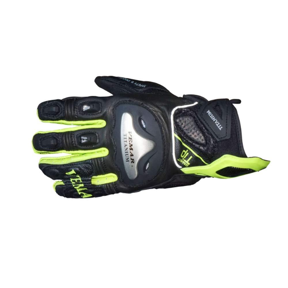 Keriya Sende アウトドアスポーツバイキングレーシング防水通気性レザーオートバイグローブ (Color : イエロー, サイズ : 2XL) 2XL イエロー B07Q13PNTS