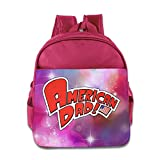 Kids American Dad! School Backpack Fashion Baby Boys Girls School Bag Pink